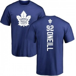 Men's Jeff O'neill Toronto Maple Leafs Backer T-Shirt - Royal