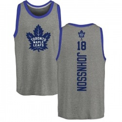 Youth Andreas Johnsson Toronto Maple Leafs Backer Tri-Blend Tank Top - Ash