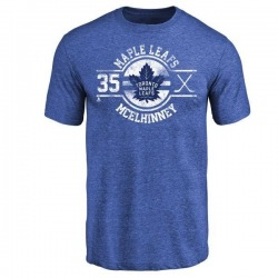 Youth Curtis McElhinney Toronto Maple Leafs Insignia Tri-Blend T-Shirt - Royal