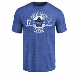Youth Wendel Clark Toronto Maple Leafs Insignia Tri-Blend T-Shirt - Royal